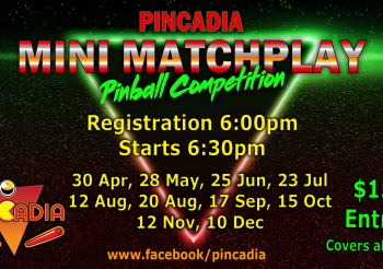 Pinball Mini Matchplay – 20th Aug 2019
